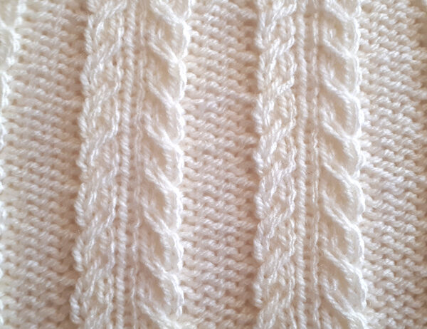 Slipped Closing Double Cable Stitch [FREE Knitted Stitch Pattern] | learnknittingonline.com