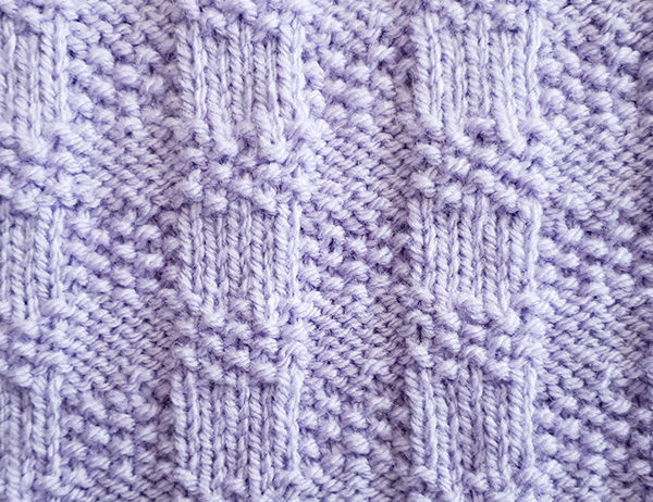 Small Gingham Stitch Pattern | learnknittingonline.com