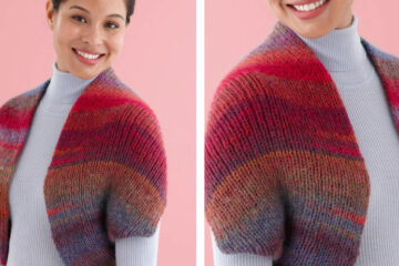 Snapped Convertible Cowl-Shrug [FREE Knitting Pattern]   learnknittingonline.com