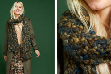 Sophisticated Sage Knit Scarf [FREE Knitting Pattern] | learnknittingonline.com