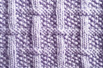 Square Lattice Pattern [FREE Knitted Stitch Pattern] | learnknittingonline.com