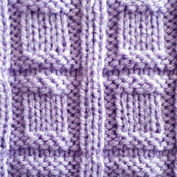 Squared Check Stitch Pattern [FREE Knitted Stitch Pattern] | learnknittingonline.com