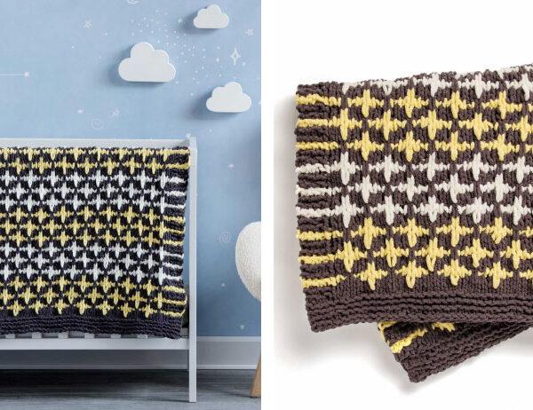 Starry Night Knit Baby Blanket [FREE Knitting Pattern]   learnknittingonline.com