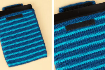 Striped Knit iPad Cover [FREE Knitting Pattern] | learnknittingonline.com