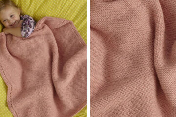 Sweet and Soft Baby Throw [FREE Knitting Pattern] | learnknittingonline.com