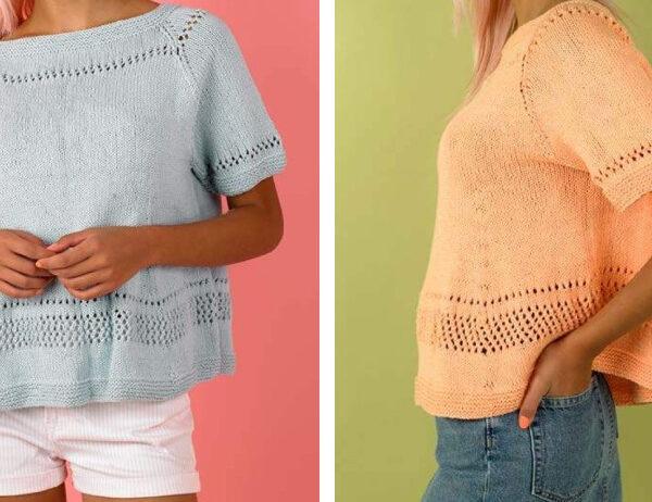 Sweetie Swing Summer Top [FREE Knitting Pattern]   learnknittingonline.com
