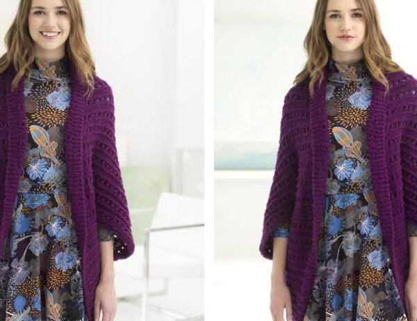 Terrific Taconic Knit Shrug [FREE Knitting Pattern]   learnknittingonline.com