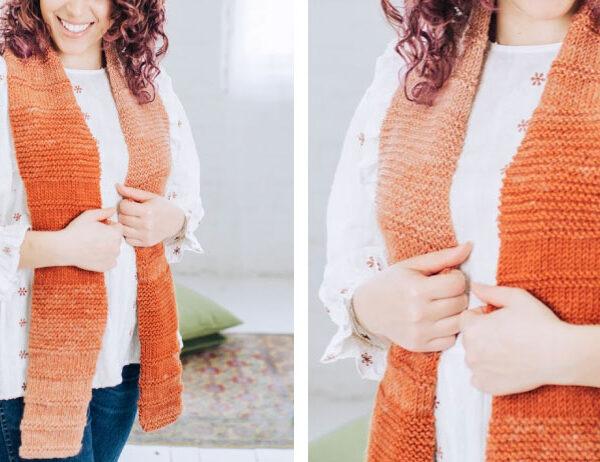 Toasty Toni Knit Scarf [FREE Knitting Pattern]   learnknittingonline.com