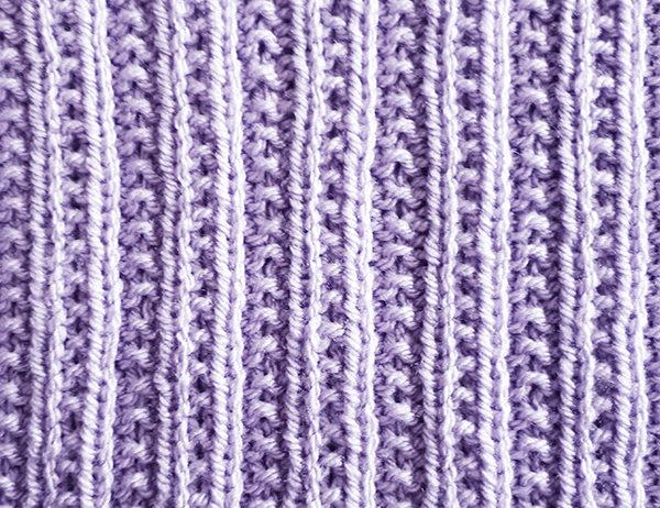 Twin Rib Stitch Pattern | learnknittingonline.com