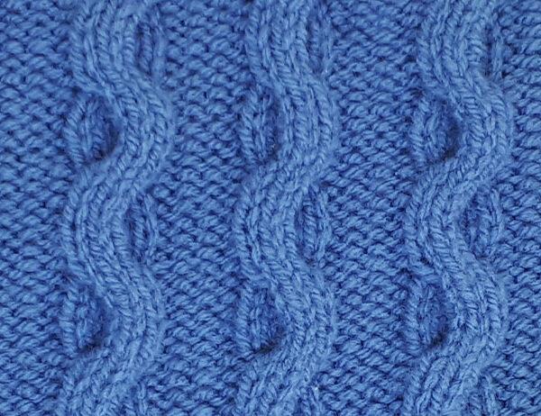 Wave Cable Stitch Pattern [FREE Knit Stitch Pattern] | learnknittingonline.com