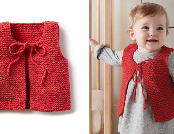 Wee Knit Baby Vest [FREE Knitting Pattern]   learnknittingonline.com
