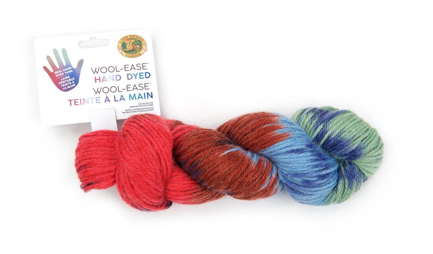 A skein of multicolor yarn